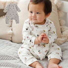 ベビー ロンパース【mocmof】サーカス柄プリントロンパース  男の子 女の子 ベビー服 新生児 赤ちゃん服 ベビーウエア 服