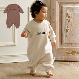 ベビー ロンパース【Ampersand】ゆるスウェットロゴロンパース  男の子 女の子 ベビー服 新生児 赤ちゃん服 ベビーウエア 服