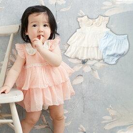 b507a581f96f7  ベビー   kids zoo ネコ衿チュニックワンピボディ  ベビー 赤ちゃん ベビー服