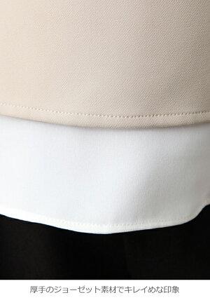 【マタニティトップス】【授乳口付】ストレッチジョーゼットトップス【妊婦服授乳服産前産後ウェアウエアマタニティー】