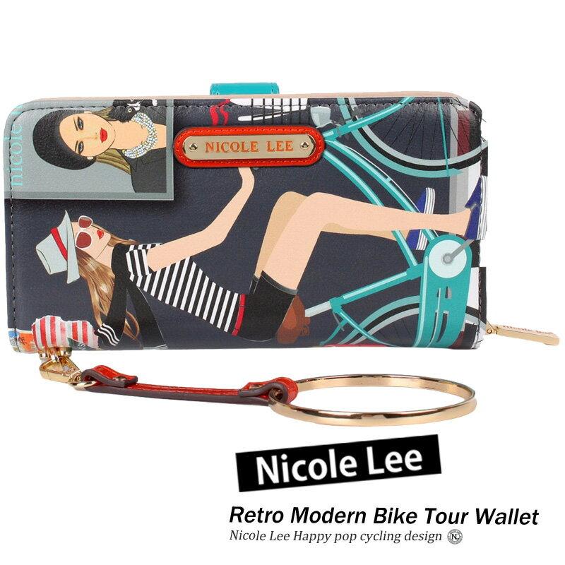 NICOLE LEE ニコールリー ウォレット BIK6510 レディース BIKE TOUR バイクツアー シリーズ サイクリング 自転車柄 大人カジュアル 長財布 さいふ LA GLITTERグリッター nicole lee ニコルリー インポート海外セレブ 正規品 楽天市場 送料無料