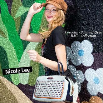 5 / 28 new in stock! 2015 new! NICOLE LEE Nicolle (also like to JAC10827 NL SIGNATURE BOSTON BAG nicolliesigneurelamemonogram bag gold Brown nicole lee GLITTER posted brand Nicole Lee Tory Burch coach Gucci Samantha Thavasa