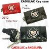 Collaborative work with the Cadillac! Cadillac derbitzvintergekeecase (black, red, Brown, cadillac, GM genuine, silver, Pocket, card case, LA Gana, genuine GM, Cadillac tag car celebrity favorite Cadillac wallet key case