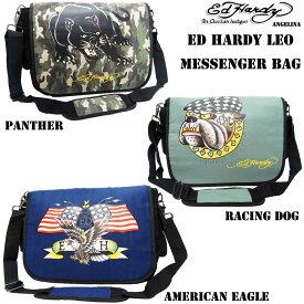8b007a910a8f 男女兼用 エドハーディー ロングセラー! Ed Hardy Leo American Eagle PantherRacing Dog  Messenger Bag(