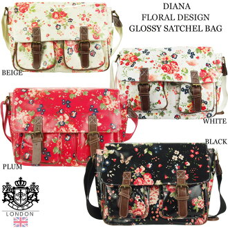 2014 NEW brand LYDC LONDON elwajdiacy London regular Agency L1104 FLORALGLOSSYSATCHELBAG retroflowermessen bag elwajdiacy back LYDC British brands United Kingdom bag LYDC LONDON regular products.