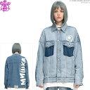 【セール SALE】MISHKA ジャケット ミシカ デニムジャケット 2-TONE DENIM JACKET Gジャン ストリート/