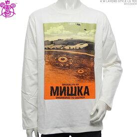 【セール SALE】 MISHKA Tシャツ ミシカ 長袖Tシャツ CROP CIRCLE L/S TEE ミシカ トップス ストリート 送料無料 あす楽/