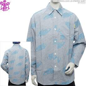 MISHKA 長袖シャツ ミシカ ストライプシャツ HIGH SPEED LOGO LS STRIPED SHIRT ミシカ トップス ストリート あす楽/