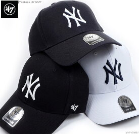47Brand キャップ 【 ヤンキース キャップ 】 47 キャップ/(フォーティーセブン)/ストラップバック/MLB キャップ/NY ヤンキース/Yankees '47 MVP/ホワイト ブラック ネイビー/