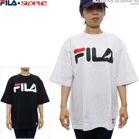 【セール SALE】FILA×STAPLE 半袖Tシャツ FILA STAPLE フィラ Tシャツ FILA×STAPLE S/S GRAPHIC TEE コラボ トップス あす楽/