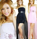 ≪Dress Angelo≫キャバ ドレス キャバドレス ナイトドレス パーティードレス(あす楽)カラービジュー付き美脚…