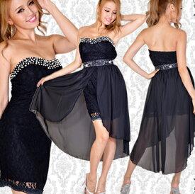fd82926d8e0e7 ≪Dress Angelo≫ドレス キャバ ドレスキャバ ナイトドレス パーティードレス(あす楽)ビジューレース&シフォンスカート2ピースキャバドレス 0221   キャバドレス ...