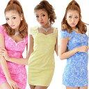 ≪Dress Angelo≫ドレス キャバ ドレスキャバ ナイトドレス パーティードレス(あす楽)キャンディーカラー刺繍…