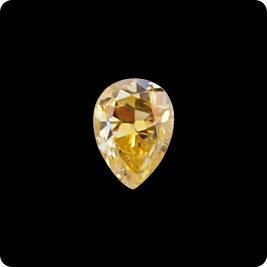 ペアシェイプイエローダイヤモンドルース0.260ctFANCYINTENSEORANGYYELLOW-I1(中央宝石研究所ソーティング付)