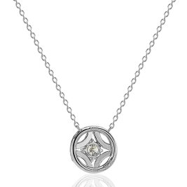 Pt900/Pt850プラチナダイヤモンドネックレス(0.354ctE-SI2-GOOD)中央宝石研究所鑑定書付