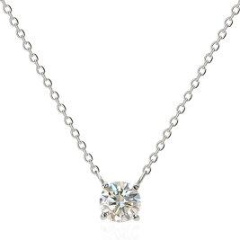 [K18][Pt]ダイヤモンドネックレス(0.3ctUP)中央宝石研究所ソーティング付