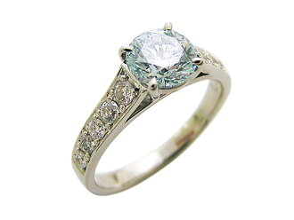 It is an ice blue diamond ring (BD 1.010ct FLB-SI2-G/D 0.38ct) judgment memo Pt
