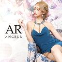 AngelR エンジェルアール[デコルテラインビジューデザインタイトミニドレス]ミニドレス タイト 袖あり ビジュー 細い …