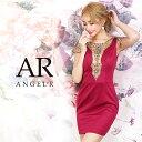 AngelR エンジェルアール[メッシュスリーブビジューデザインタイトミニドレス]ミニドレス タイト 袖あり ビジュー 細…