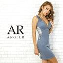 AngelR エンジェルアール[サイドシアーフラワーレースデザインタイトミニドレス]ミニドレス タイト ノースリーブ フラ…
