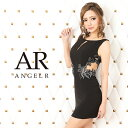 AngelR エンジェルアール[ウエストデザインシアービジュータイトミニドレス]ミニドレス タイト ノースリーブ ビジュー…