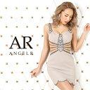 AngelR エンジェルアール[ラグジュアリービジューショルダーデザインタイトミニドレス]ミニドレス タイト ノースリー…