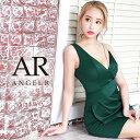 AngelR エンジェルアール[アシンメトリーデコルテビジュータイトミニドレス]ミニドレス タイト ノースリーブ ビジュー…