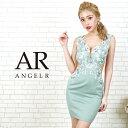 AngelR エンジェルアール[フラワーレースサイドシアータイトミニドレス]ミニドレス タイト ノースリーブ フラワーレー…