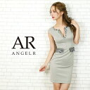 AngelR エンジェルアール[ウエスト&デコルテビジュータイトミニドレス]ミニドレス タイト ノースリーブ ビジュー 細…