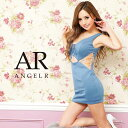 AngelR エンジェルアール[バストレースアップアシンメトリータイトミニドレス]ミニドレス タイト ノースリーブ 細い …
