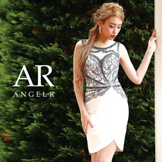 [bijou no sleeve design cut skirt tight minidress] party girls-only gathering | where a minidress tight no sleeve bijou stone dress is thin High-quality キャバドレス AngelR (angel are) | AR8811