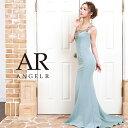 AngelR エンジェルアール [アンティークゴールドビジュータイトロングドレス]ロングドレス タイト ノースリーブ ビジ…