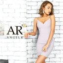AngelR エンジェルアール[バックビジューデザインタイトミニドレス]ミニドレス タイト ノースリーブ ビジュー 細い パ…