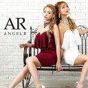 AngelR エンジェルアール [チョーカー付き2ピース風デザインタイトミニドレス]ミニドレス タイト ベアトップ フリル …