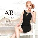 AngelR エンジェルアール [デコルテスリットサイドシアーパール&ビジュータイトミニドレス]ミニドレス タイト ノース…
