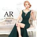 AngelR エンジェルアール[デコルテスリットサイドシアーパール&ビジュータイトロングドレス]ロングドレス タイト ノー…