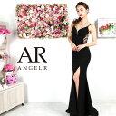 AngelR エンジェルアール[バックビジューデザインタイトロングドレス]ロングドレス タイト ノースリーブ ビジュー ス…