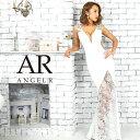 AngelR エンジェルアール[レース切替えサイドシアータイトロングドレス]ロングドレス タイト ノースリーブ フラワーレ…