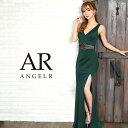 AngelR エンジェルアール[ウエスト切替えビジューデザインタイトロングドレス]ロングドレス タイト ノースリーブ ビジ…