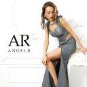 AngelR エンジェルアール [ラメ生地サイドシアーノースリーブタイトロングドレス]ロングドレス タイト ノースリーブ …