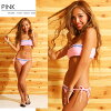2018 summer white / black / orange / pink / neon pink / turquoise blue Shin pull S-L which there is an entering Miranda Milan Dacca ruffle native pattern bandeau bikini swimsuit Lady's bandeau pat pat pocket in