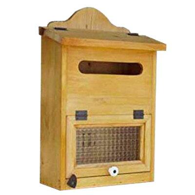 ポスト縦型ナチュラル30×14×45cm角2封筒がキチンと入るチェッカーガラス郵便受け木製ひのきハンドメイドオーダーメイド