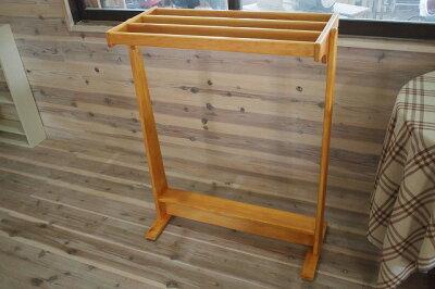ナチュラル◇木製バスタオルハンガー◇ひのき