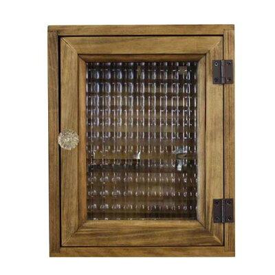 キーボックス木製アンティーク調雑貨角型タイプ・パンプキンノブ・マグネット仕様ニッチ用壁掛けアンティークブラウン