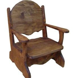 ベビーチェア アンティークブラウン w34d29h42cm 子供用椅子 木製 ひのき オーダーメイド
