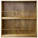 マガジンラックウォールラック二段本棚アンティークブラウン65×14×70cm木製ひのきハンドメイドオーダーメイド