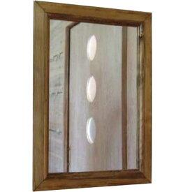 ミラー アンティークブラウン w35d2h50cm 壁掛け 木製 ひのき オーダーメイド 1220163 1213019