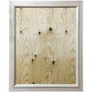 ミラー壁掛け無塗装白木鏡w50d2h60cm木製ひのきハンドメイドオーダーメイド