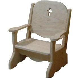 ベビーチェア クロス 無塗装白木 w34d29h42cm 子供用椅子 木製 ひのき オーダーメイド