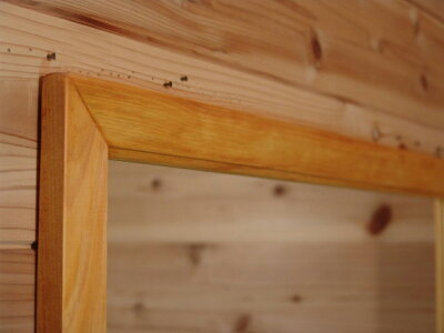 ナチュラル◇ひのきの木製正方形ミラー◇鏡◇(70×70cm)